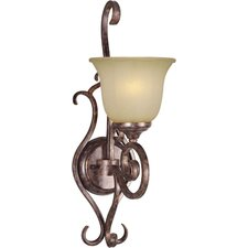 1-Light Wall Sconce in Rustic Spice