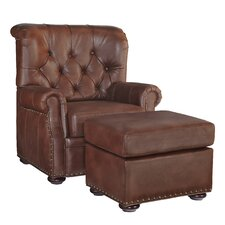 Stationary Club Chair and Ottoman by Home Styles