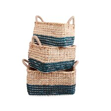3 Piece Water Hyacinth Basket