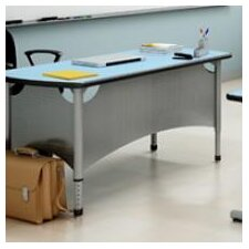A&D Wood Adjustable Height Collaborative Desk