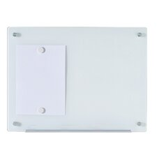 Dry-Erase Wall Mounted Magnetic White Glass Board