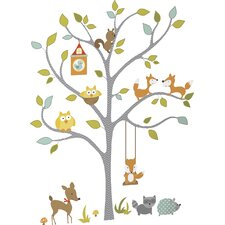 Chevy Woodland Fox and Friends Tree Wall Decal by Viv + Rae