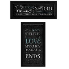 Love Story' by Mollie B. 2 Piece Framed Textual Art Set  by Trendy Decor 4U