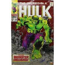 Stan Lee Signed Incredible Hulk Stan Lee Auth Vintage Advertisement