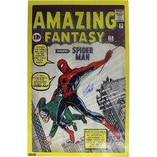Stan Lee Amazing Spider Man Stan Lee Auth Vintage Advertisement