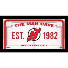 Man Cave Sign Framed Textual Art