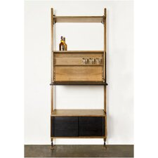 Theo 83 Accent Shelves Bookcase by Nuevo