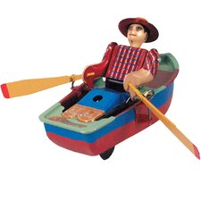 Collectible Decorative Tin Toy Rowboat