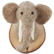Felt Elephant Trophy Key Hook