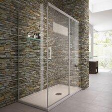 Evelyn 140cm W x 80cm D x 200cm H Rectangular Sliding Door Shower Enclosure