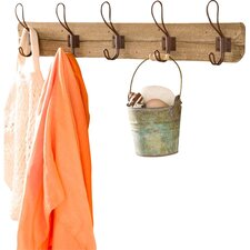 Recycled Wood Wall-Mount Coat Rack by Wind & Weather