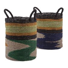Zephon 2 Piece Seagrass Basket Set