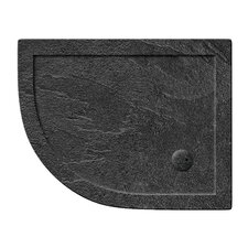 Anti-Bacterial and Slate Effect Offset Shower Tray