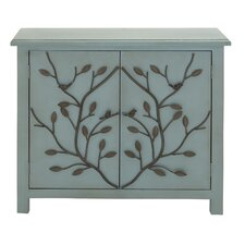 2 Door Wood and Metal Accent Cabinet by Cole & Grey