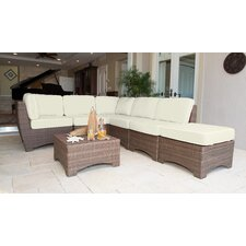 Key Biscayne 7 Piece Sectional Seating Group with Cushions