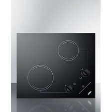 """21"""" Electric Cooktop with 2 Burners"""