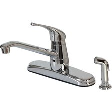 Single Handle Deck Mounted Kitchen Faucet with Spray