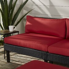 Zoar Patio Middle Seat Chair with Cushion