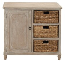 1 Door Wood Basket Accent Cabinet by Cole & Grey