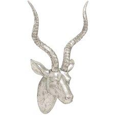Polystone Gazelle Head Wall Decor