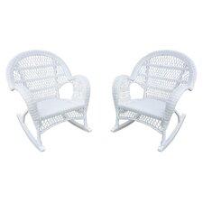 Wicker Rocker Chair (Set of 2)