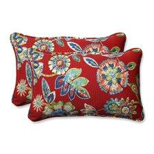 Daelyn Outdoor/Indoor Lumbar Pillow (Set of 2)