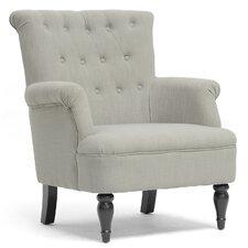 Baxton Studio Linen Modern Armchair by Wholesale Interiors