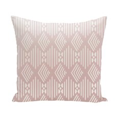 Fishbones Geometric Print Throw Pillow