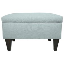 Brooklyn Upholstered Square Legged Box Storage Ottoman by MJL Furniture