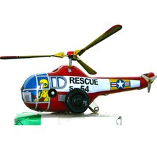 Collectible Decorative Tin Toy Helicopter
