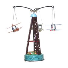 Collectible Decorative Tin Biplane Carousel
