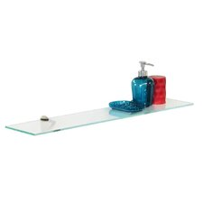 Low Iron Rectangle Glass Shelf with Chrome Brackets by Fab Glass and Mirror