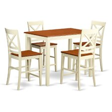 "Yarmouth 36"" 5 Piece Pub Table Set"