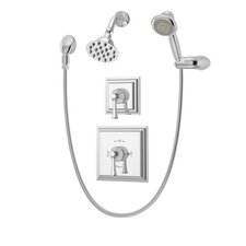 Canterbury Pressure Balance Shower and Hand Shower with Lever Handle