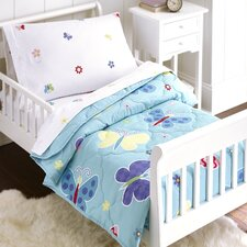 Butterfly Garden 4 Piece Toddler Bedding Set