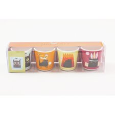Thinking Cat 4 Piece Egg Cup Set
