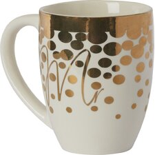 Bane Mr O' Joe Ceramic 18 oz. Cup with Gold Accents