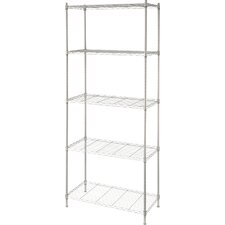 68 H Metal Wire Five Shelves Shelving Unit by Artiva USA