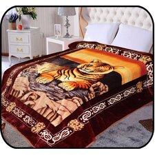 Hiyoko Safari Tiger Animal Mink Blanket