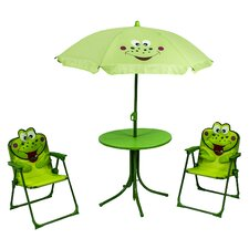 Frog Kids 4 Piece Round Table and Chair Set by River Cottage Gardens