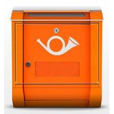 Briefkasten Posthorn in Europa mit Zeitungsfach