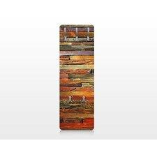 Wandgarderobe Bretterstapel Holzoptik