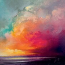 'Sunset Cumulus Study 1' by Scott Naismith Wall art on Canvas