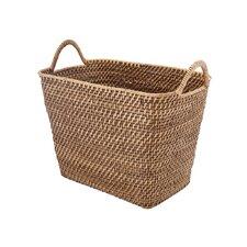 Rectangular Storage Rattan Basket with Ear Handles