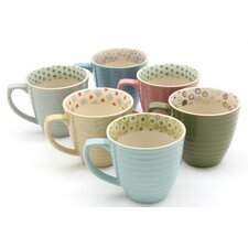 Paisley 6 Piece Assorted Mugs Set