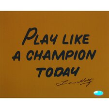 Lou Holtz Play Like A Champion Today Textual Art