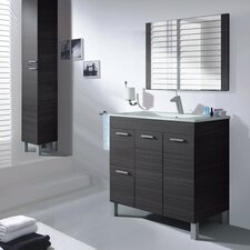 Aktiva 80cm Wall Mounted Vanity Unit with Mirror