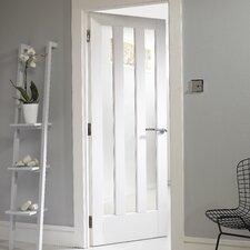 3 Panel White Glazed Internal Door