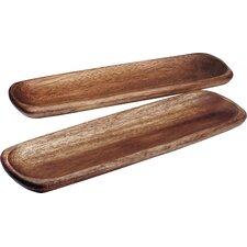 Kona Wood Rectangular Platter (Set of 2)