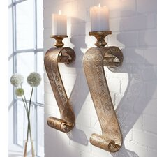 Oriental Metal Wall Candle Holder